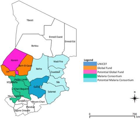 Photo:  SMC implementation areas - Chad